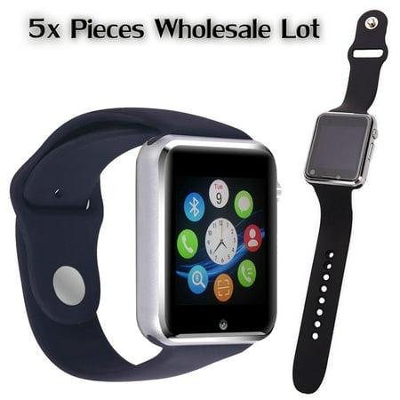 5 Pack G-10 Black Smart Watch Wholesale Lot Touch Screen Bluetooth Smart Wrist Watch - Supports SIM + Memory