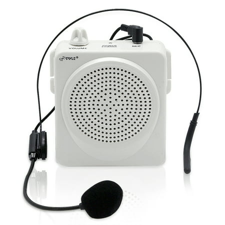 PYLE PWMA50W - Compact & Portable Waist-Band PA Speaker System | Voice Amplifier & Microphone Headset with Built-in Rechargeable Battery (Handset Speaker)