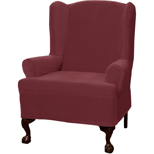 Maytex Collin Polyester/Spandex Wing Chair Slipcover