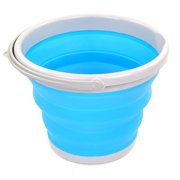 VVIED 10L Outdoor Foldable Bucket Fishing Bucket Portable Car Storage Bucket Car Washing Bucket Art Pen Washing Bucket