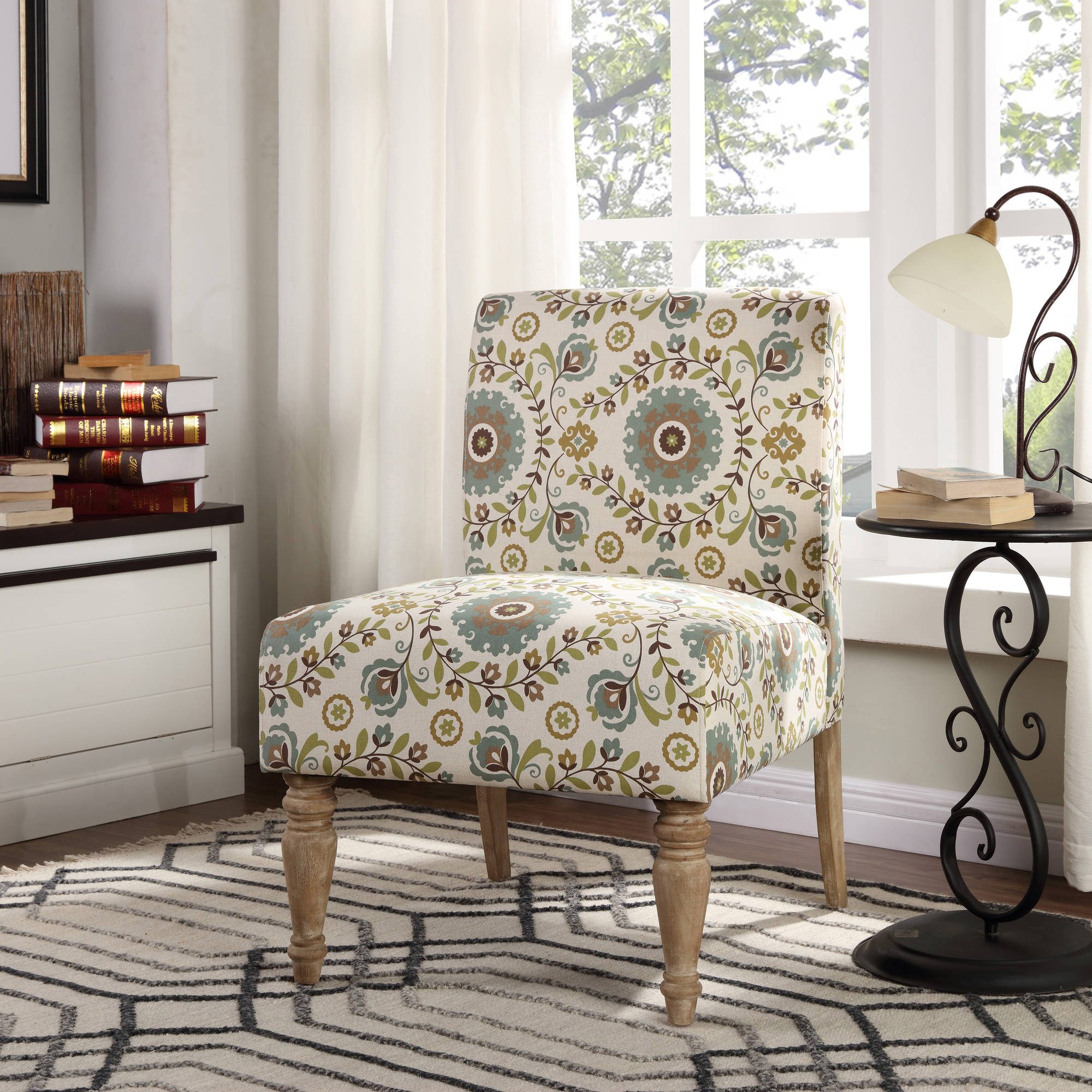 Marvelous Better Homes Gardens Paisley Slipper Chair Multiple Colors Walmart Com Ibusinesslaw Wood Chair Design Ideas Ibusinesslaworg