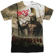 300 Action Fantasy War Movie Leonidas's Spartans Adult 2-Sided Print T-Shirt