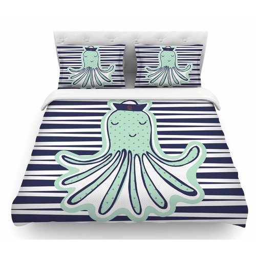East Urban Home Pulpo by MaJoBV Octopus Featherweight Duvet Cover