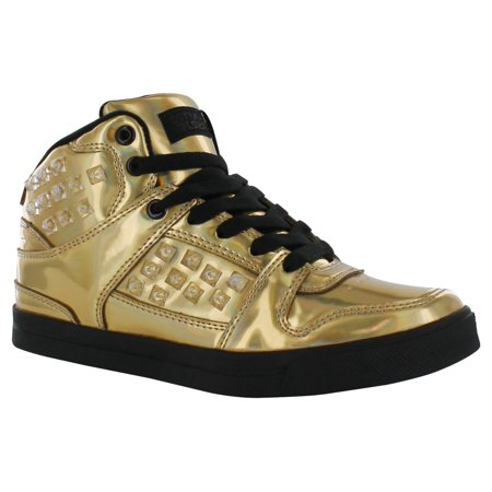 Gotta Flurt Hip Hop HD III 3/4 Top Sneaker, Gold/Black, Size (Best Shoes For Hip Bursitis)