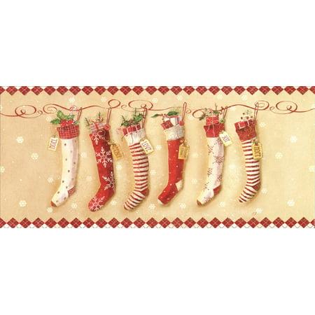 LPG Greetings Fair Isle Inspired Stockings: Shawn D Jenkins Long Format Christmas Card ()