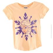 Junk Food NEW Orange Girl's Small S Frozen Graphic Print Short Sleeve T-Shirt