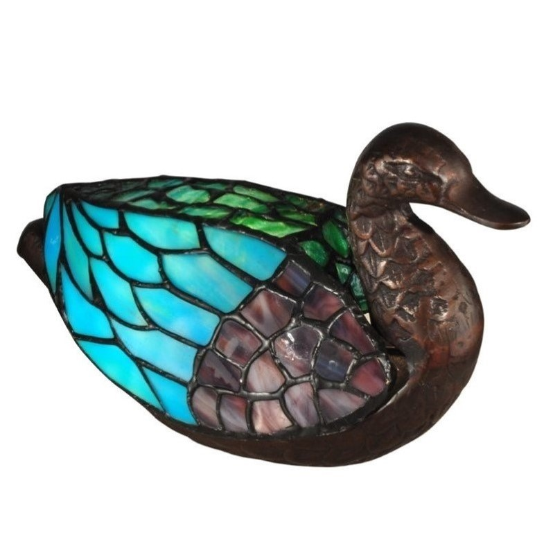 Dale Tiffany Blue Duck Accent Lamp