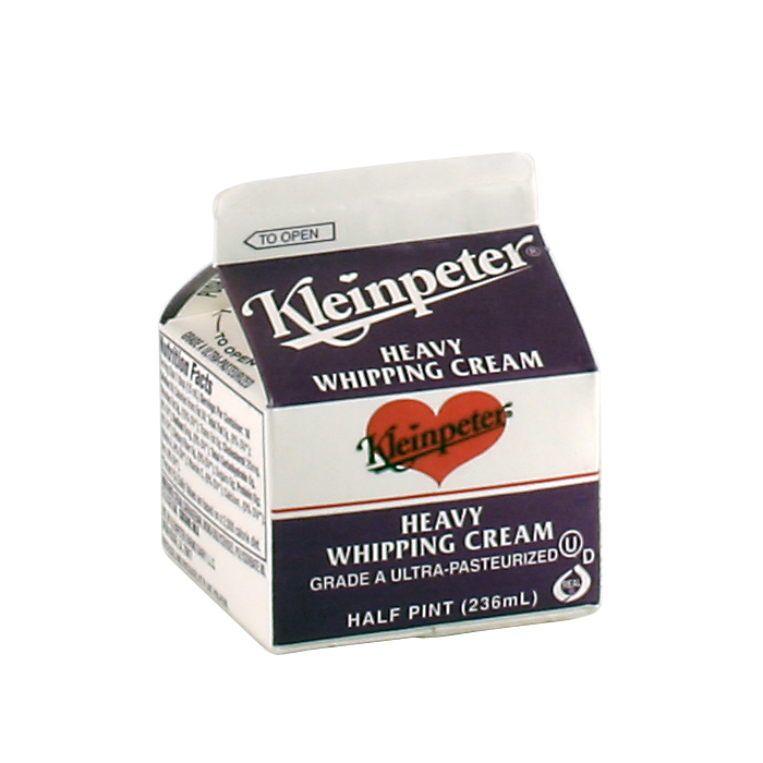 Kleinpeter Whipping Cream Half Pint