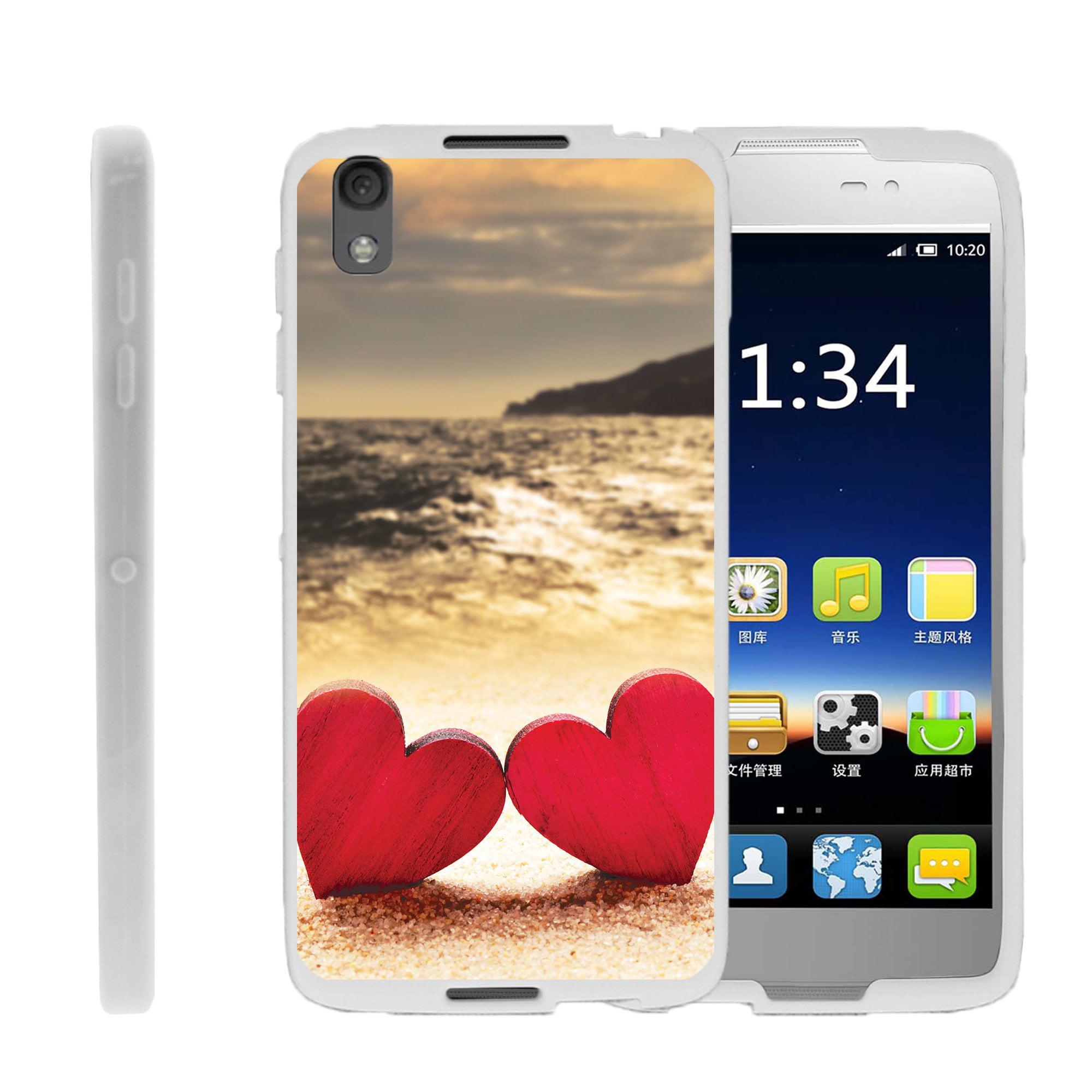 TurtleArmor ®   For Alcatel Nitro 49   Alcatel Idol 4 [Flexible Case] Slim Fitted TPU Case - Red Hearts Love