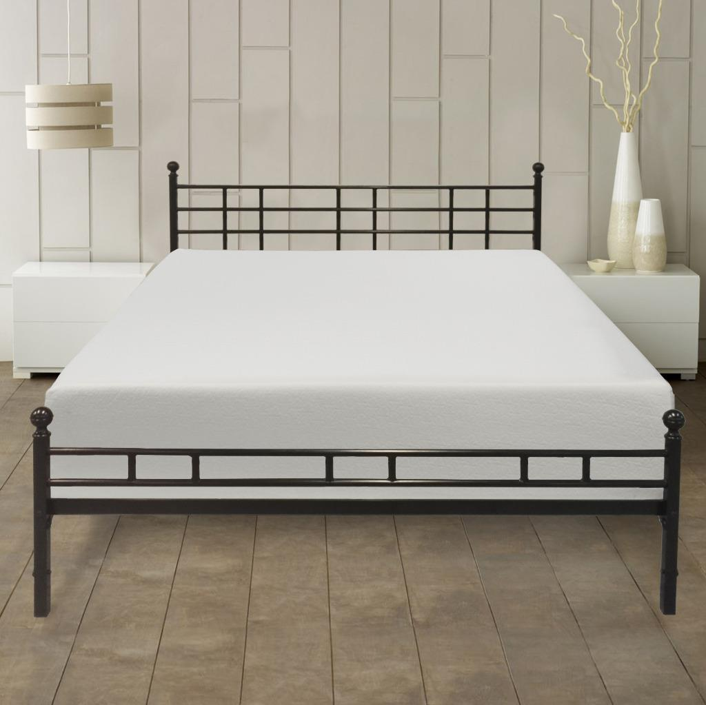 Best Price Mattress 12 inch Memory Foam Mattress and Easy Set-up Steel Frame Set, Multiple Sizes