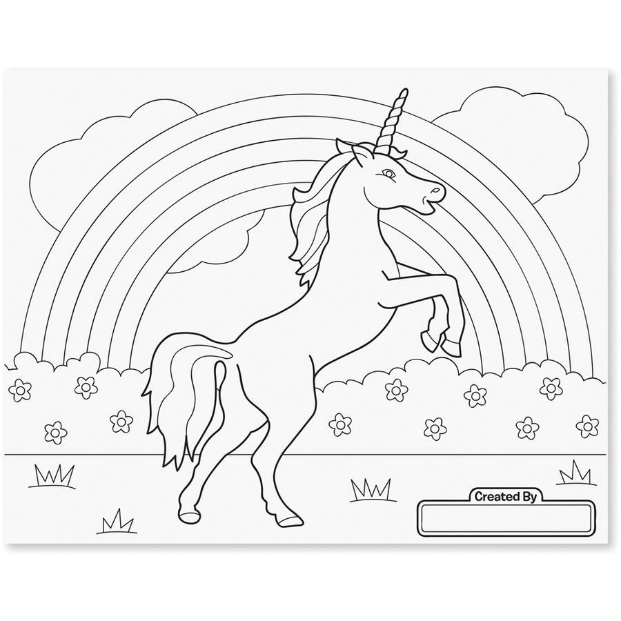 Melissa & Doug Jumbo 50-Page Kids\' Coloring Pad - Horses, Hearts ...