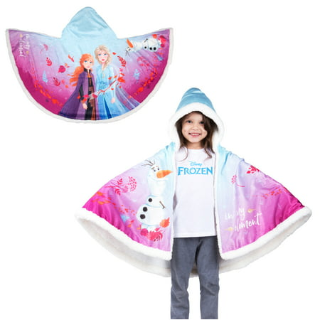 "Disney's Frozen 2 Snuggle Wrap Hoodie Blanket, 55"" x 31"", Super Soft and Cozy"