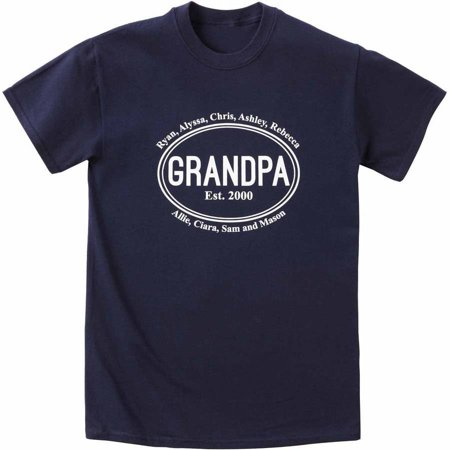 Personalized Established Grandpa Apparel (Personalized Firefighter Apparel)