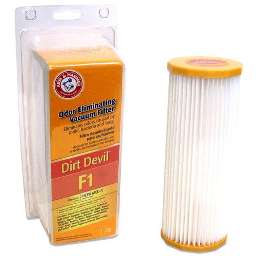 Arm & Hammer Odor Eliminating Vacuum Filters, Dirt Devil F1 ™ with HEPA