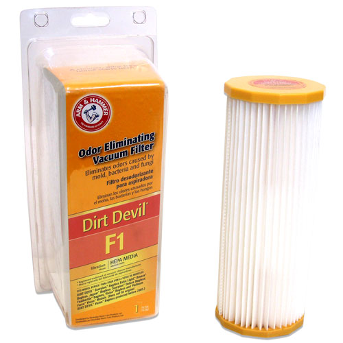 Arm & Hammer Odor Eliminating Vacuum Filters, Dirt Devil F1 �� with HEPA