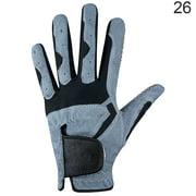 1Pc Golf Glove Men Anti-slip Microfiber Elastic Breathable Mitten for Outdoor Sport, Left, Gray, 26