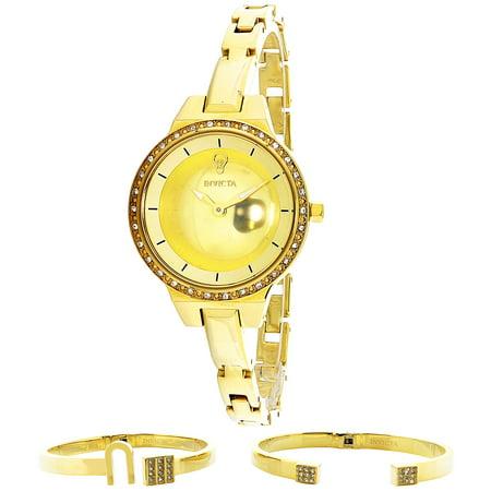 Invicta Womens Gabrielle Union 23330 Gold Stainless Steel Japanese Quartz Fashion Watch
