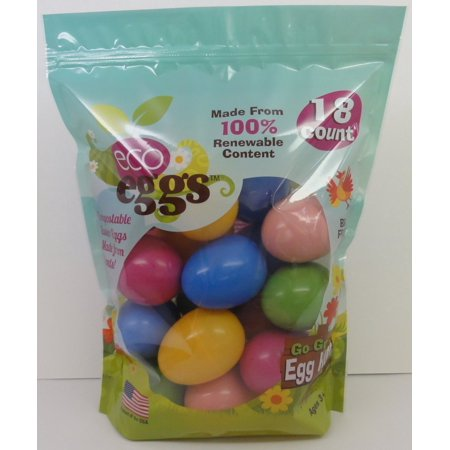 Eco Friendly Easter Eggs - 18 Count](Blue Easter Eggs)
