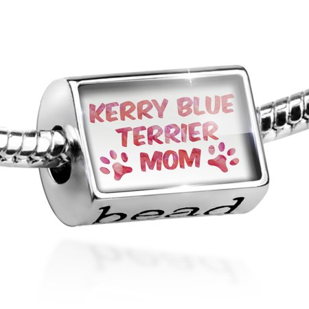 (Bead Dog & Cat Mom Kerry Blue Terrier Charm Fits All European Bracelets)