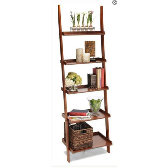 Convenience Concepts 8043391 American Heritage Ladder Bookshelf Cherry