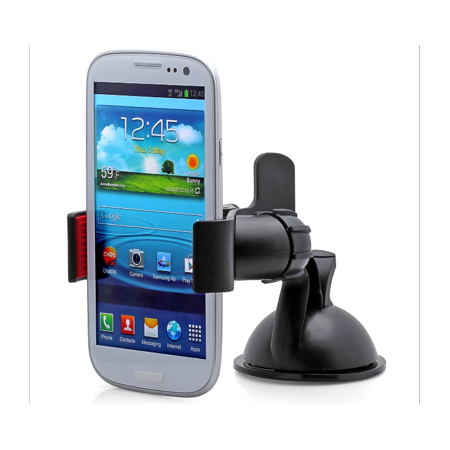 Aduro Grip Clip Universal Dashboard Car Mount for Smart Phone - Black &