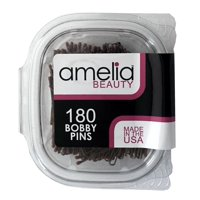 180 Count Bobby Pins in a Clamshell - Brown