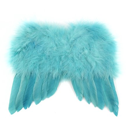 """Pack of 3 Blue Mini Wings Rain Costume Accessory - One Size Fits Most 7"""""""