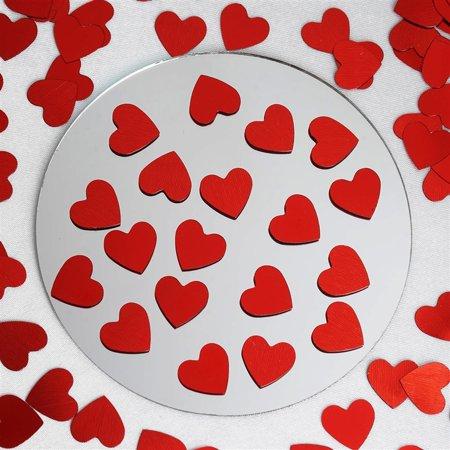 Red Metallic Foil Heart Confetti Sprinkles For Wedding Party 300pcs/pk 2PK