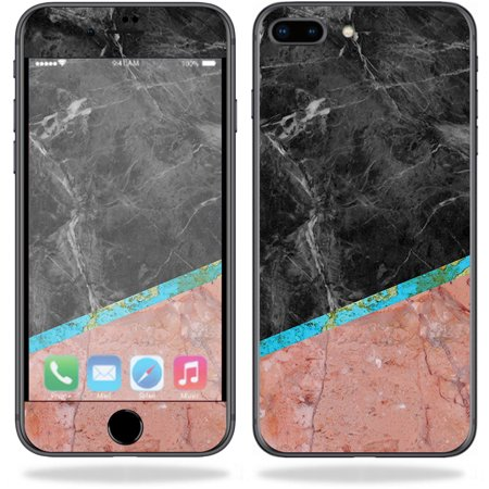 Skin for Apple iPhone 8 Plus - Cut Marble| MightySkins Protective, Durable, and Unique Vinyl Decal wrap cover  | Easy To Apply, Remove, and Change Styles | Made in the USA](Apple Cut)