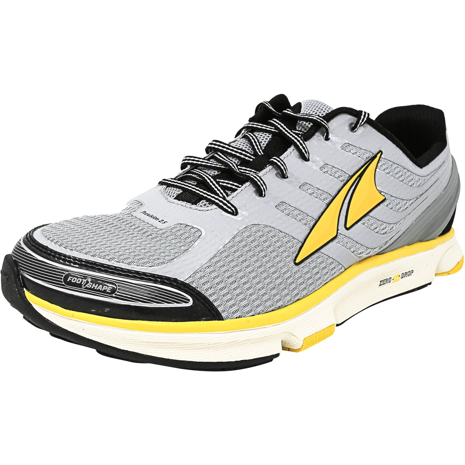 Altra Men's Provision 2.5 Silver / Cyber Yellow Ankle-High Running Shoe - 8.5M