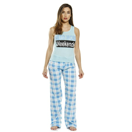 Just Love 100% Cotton Women Pajama Ribbed Tank & Jersey Pant (Dreamsack Womens Pajamas)