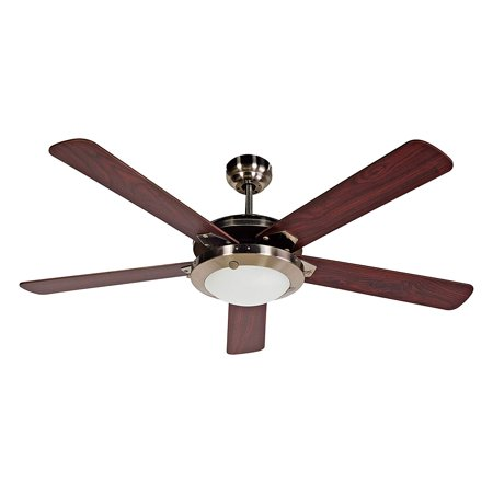 BLACK+DECKER 52 Inch 5 Blade Wooden Reversible Ceiling Fan with Remote Control, Natural Wood Black 5 Blade Ceiling Fan