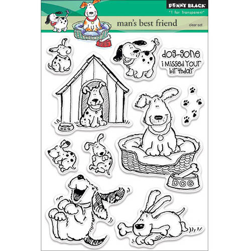 """Penny Black Clear Stamps, 5"""" x 6.5"""" Sheet"""