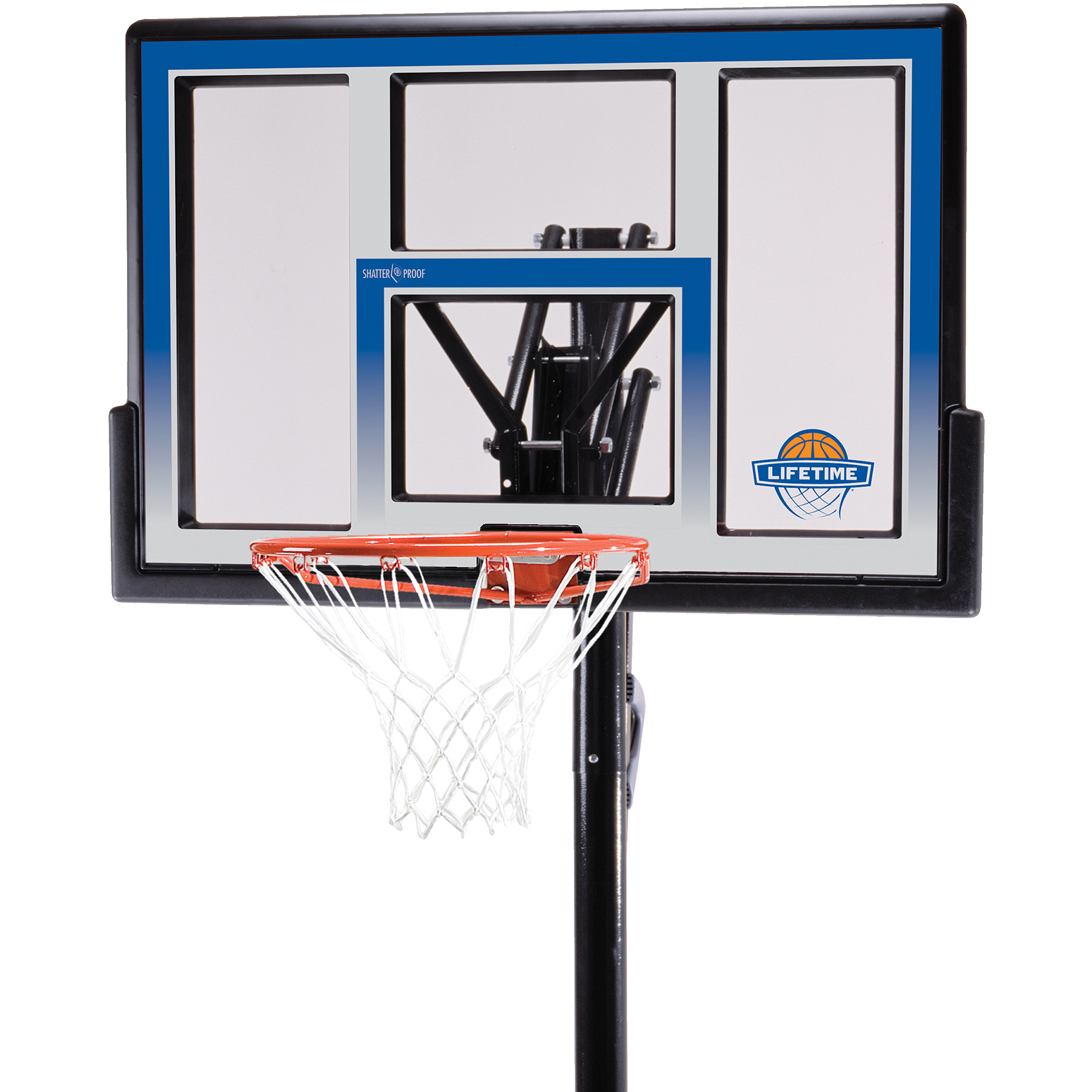 "Lifetime 48"" Shatterproof In-Ground One Hand Height Adjustable Basketball System, 90020"
