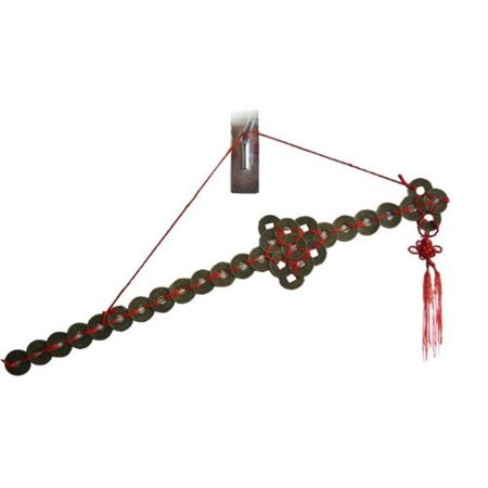 Zen Art Brass Feng Shuii Hanging Coins Sword