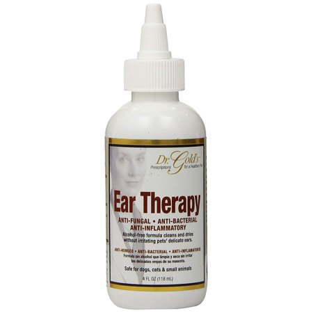 Ear Yeast Infections (Dr. Gold's Ear Therapy – Medicated Formula Treats Bacterial, Fungal and Yeast Infections in Dogs and Cats – Gently Cleans, Disinfects and Deodorizes Ear Canal – Alcohol-Free (4 oz.))