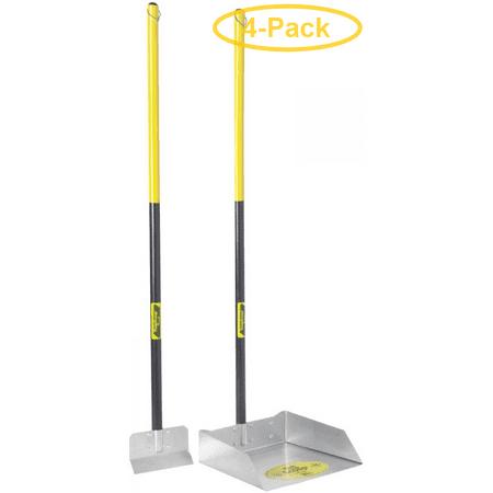 Flexrake The Scoop - Poop Scoop & Spade with Wood Handle Large - 11W x 39H x 11D - Pack of 4
