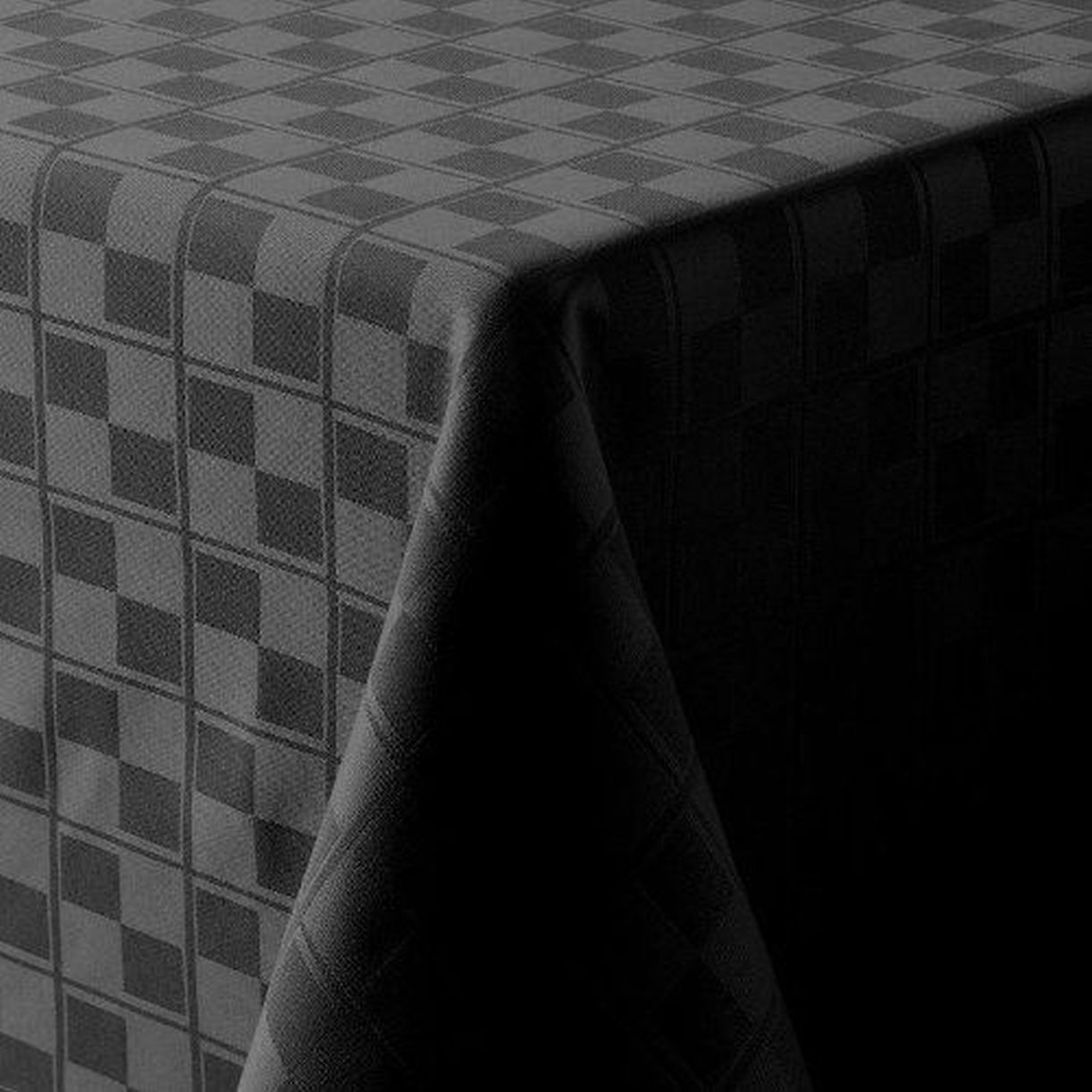 Food Network Black Microfiber Tablecloth Checkered Table Cloth 60x102 Oval