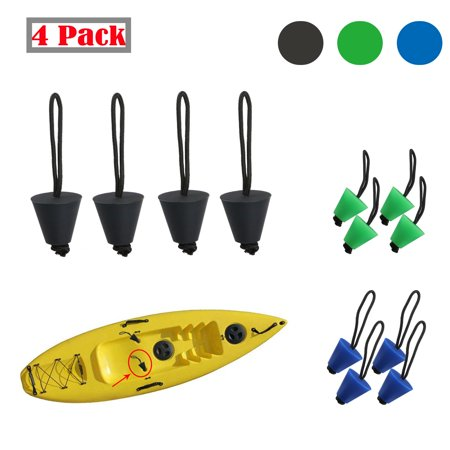 EEEKit 4Pack Kayak Scupper Plug Rubber Stopper Kit with Pull String (Fit for : Hobie Kayaks, Native Kayaks, Wilderness Systems Kayaks, Feelfree Kayaks, Perception Kayaks, Old Town