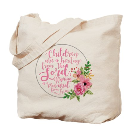 Children Heritage - Natural Canvas Tote Bag, Cloth Shopping Bag
