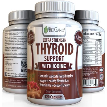 Best Thyroid Support Complex Supplement (120 Caps) #1 Helper for Overactive/ Underactive Thyroid +