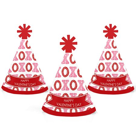 Conversation Hearts - Mini Cone Valentine's Day Party Hats - Small Little Party Hats - Set of 10](Fsu Party)