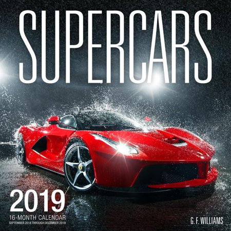 16 Month Dog Calendar (Supercars 2019: 16 Month Calendar September 2018 Through December 2019)