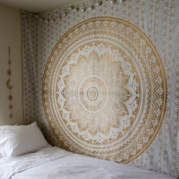 Mandala Polyester Tapestry Wall Hanging Decor Cover Carpet Beach Towel Yoga Mat
