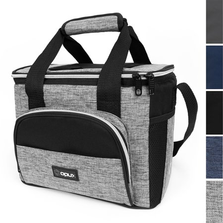 OPUX Thermal Insulated Large Lunch Bag for Travel   Soft Collapsible Mini Cooler Bag for Family Picnic, Beach, Camping   Leakproof Lunch Box for Work, Office   Fits 16 Cans