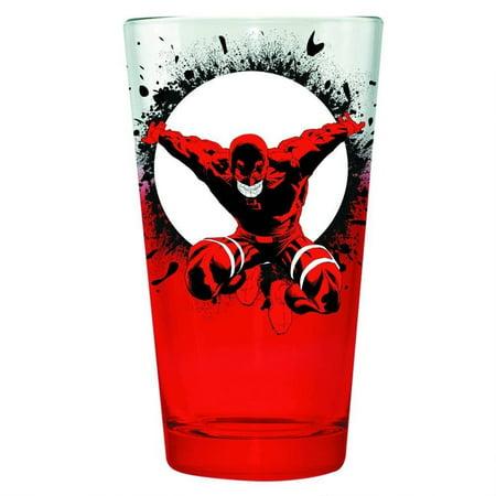 Daredevil Comic Book Cover Pint Glass 16 Oz Netflix Tv  Matt Murdock Marvel