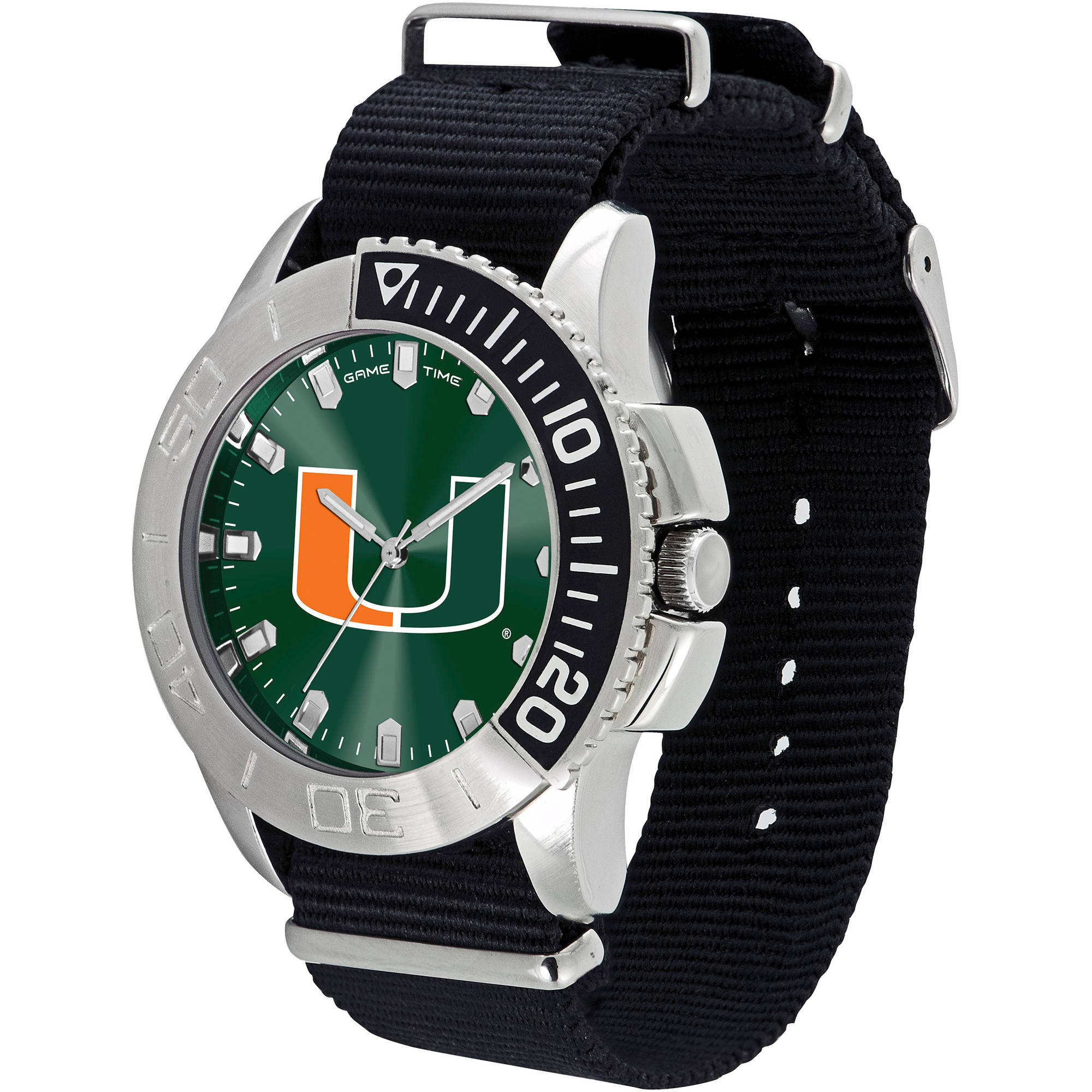 Game Time NCAA Men's University of Miami Hurricanes Starter Series Watch