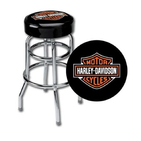 Logo Fabric Bar Stool - Harley-Davidson Classic Bar & Shield Logo Bar Stool HDL-12116A, Harley Davidson