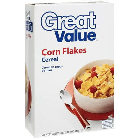 Great Value Corn Flakes Cereal, 18 oz - Walmart.com