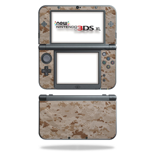 MightySkins Protective Vinyl Skin Decal for New Nintendo 3DS XL (2015) cover wrap sticker skins Desert Camo